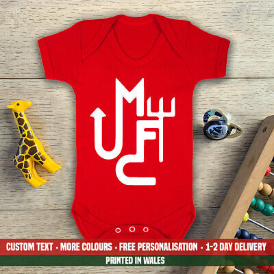MUFC Baby Vest Grow Manchester Man New Daddy Christmas Football Utd Gift United