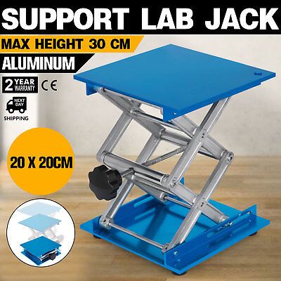 "8"" x 8"" Stainless Steel Lab Stand Table Scissor Lift laboratory Jiffy Jack"