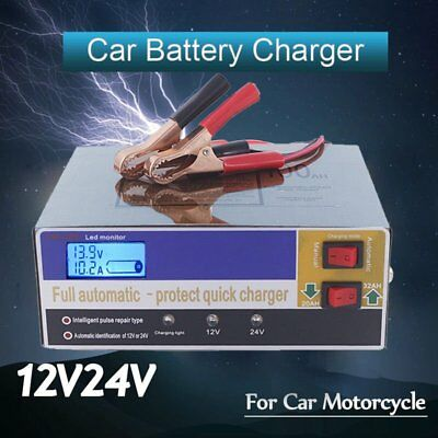 Auto Car Battery Charger Intelligent 150/250V 12/24V 100AH Pulse Repair NEW