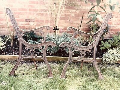 Vintage cast iron garden bench ends. REDUCED TO CLEAR.