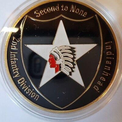 Massiver 2ND Infantry Division Challenge Coin Typ 2
