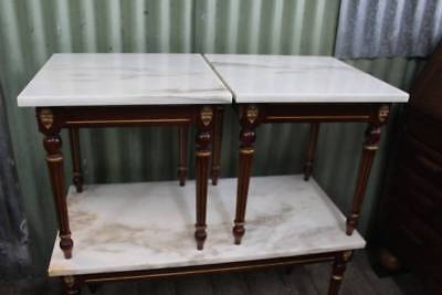 A Pair of Regency Marble Top Coffee Side Tables - Matching Coffee Table in other
