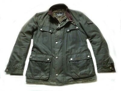 "Superb Barbour International "" Duke  "" Wax Jacket - S - £225 - Steve Mcqueen Vgc"