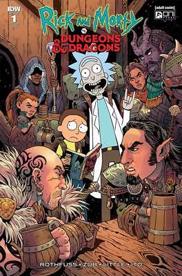 1:25 Tess Fowler Variant Rick And Morty Vs Dungeons & Dragons # 1 Oni Press Idw