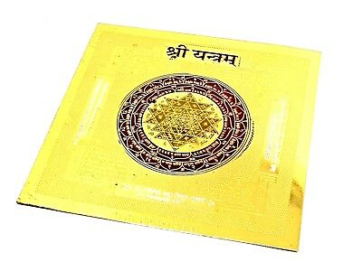 Sri Yantra Shree Yantram Chakra Healing Powerful Energized Om 24k Gold plated v2