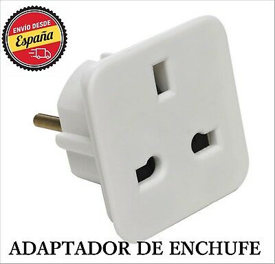 Adaptador red enchufe UK Ingles Reino Unido a Europeo UE Schuko Universal RF3425