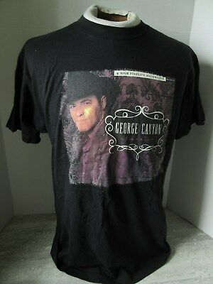 2007 George Canyon In A Quiet Room Black Concert Tour T-Shirt Size Medium
