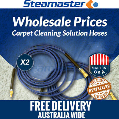 Carpet Cleaning Couplers 2 x Solution Hose 3000PSI 15m with Quick Couplings