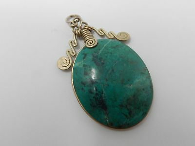 Old turquoise stone pendant
