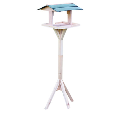 Traditional Wooden Bird table upright free standing tables tripod bases