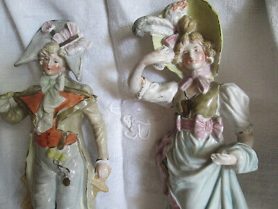 Ancienne Figurines Couple Porcelaine Numerote Antic Couple Figurin