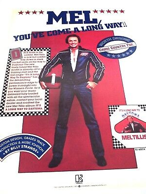 "MEL TILLIS ""You've Come A Long Way"" 1982  Original Promo Poster Ad"