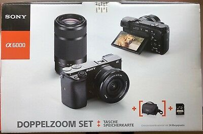 SONY Alpha 6000 Kit Systemkamera 24.7 MP Objektive 16-50mm und 55-210mm NEU !!