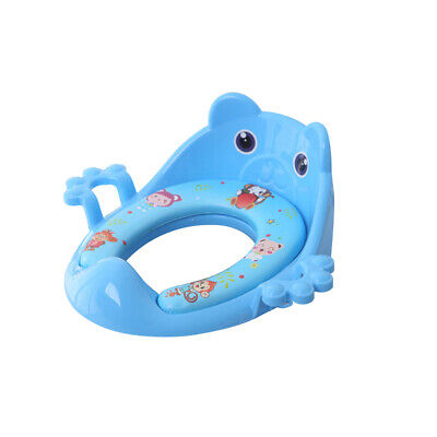 Toddler Kids Child Soft Padded Safe Potty Training Toilet Seat With Handles