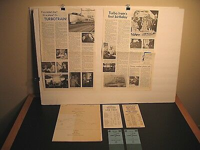 Penn Central Railroad Turbo Train Instruction Manual Timetables Tickets Articles