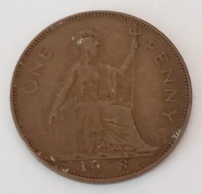 1938 One Penny Great Britain/UK Coin