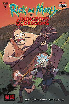 Marc Ellerby Retailer VARIANT RICK AND MORTY VS DUNGEONS & DRAGONS # 1 ONI IDW