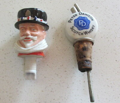Ceramic Drink Pourers - Beefeater Gin and Peter Dawson Whisky PRICE DROP AGAIN