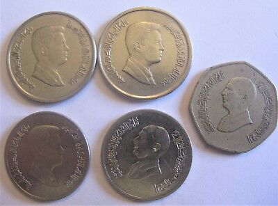 Mixed Lot of Coins From Country of Jordan. Dinar and Piastres Included