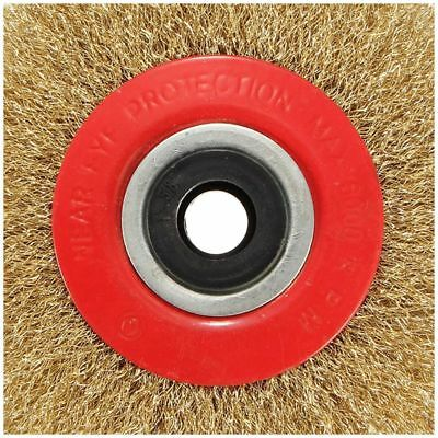 Wire Brush Wheel for Bench Grinder Polish + Reducers Adaptor Rings,5inch 125M JV