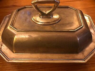 Silver Compote Covered Dish Marked