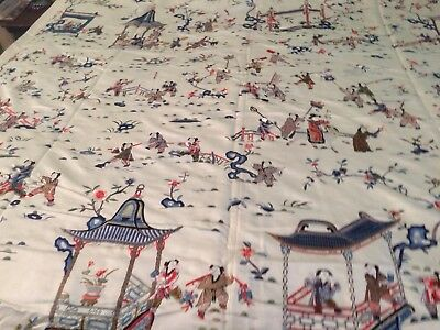 SPECTACULAR Huge ANTIQUE CHINESE SILK EMBROIDERY Private  Collection Superb Work
