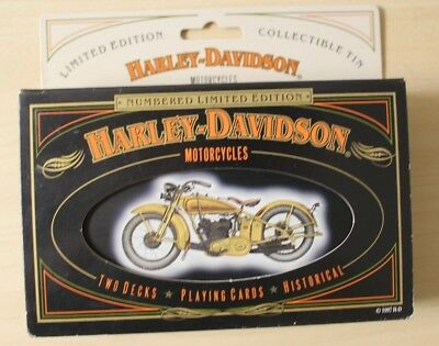 NEW HARLEY DAVIDSON Limited Edition Playing Cards (2 Packs) in TIN 1997 Made USA