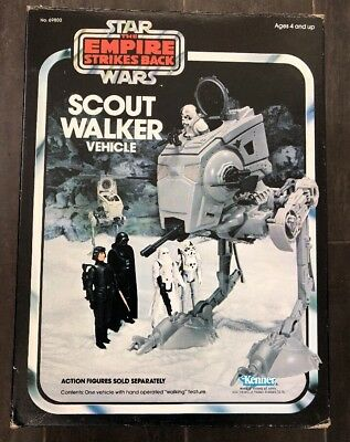 Star Wars Vintage Kenner Empire Scout AT-ST Walker Vehicle MIB
