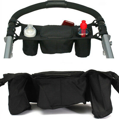 Console Bottle Drink Tray Baby Stroller Pram Parent Dual Cup Holder Buggy Tra