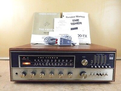 Vintage The Fisher 800-T AM FM Stereo Receiver Tuner w/ RK-30 Remote and Manuals