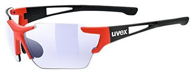 Uvex Sportstyle 803 race vario m Sportbrille - black red mat