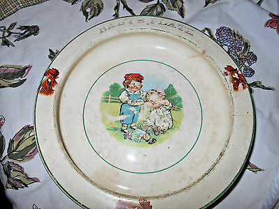 Vintage ELPCO China USA Baby's Plate Boy Girl & Doll