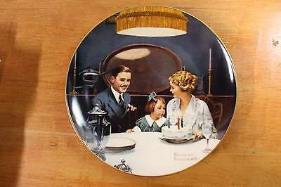 Collector Plate Rockwell The Birthday Wish