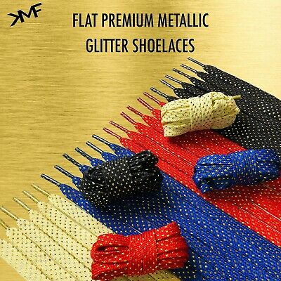 FLAT Glitter SHOELACES Laces For NIKE ADIDAS NMD 3 BOOST Shoes BUY 2 GET 1 FREE