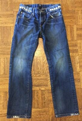 Boys Gap Kids Blue Jeans Denim Slim Straight Fit Size 10 Good Condition