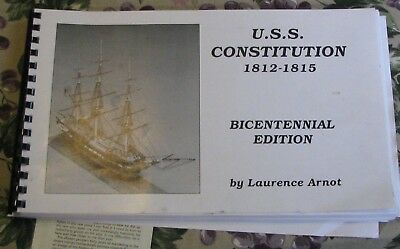 """Bluejacket USS Constitution kit Bicentennial edition plans 1/8"""" to 1'"""