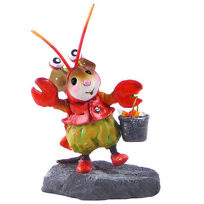 HAPPY LOBSTER TREATER by Wee Forest Folk, WFF# M-491, Halloween Mouse