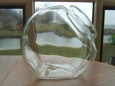 Vintage Large Slant Glass Apothecary Candy Counter Cookie Jar Canister - No Lid