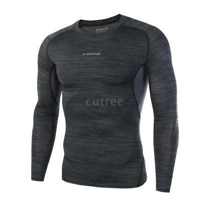 Fitness Sportswear Springy Tights Long Sleeve Top Breathable Quick Drying M6R8