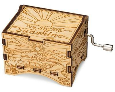 You Are My Sunshine, Artistic Music Box, Birch Wood with Hand Crank Movement