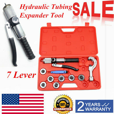 New 7 Lever Hydraulic Tubing Expander Tool Swaging Kit HVAC Tools US STOCK
