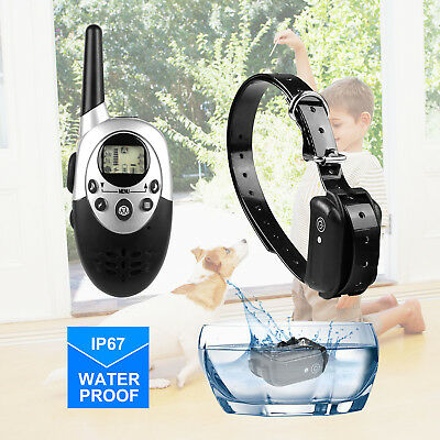 Waterproof Shock Vibrate Remote Training Collar for Large Med Small Dog 500 Yard