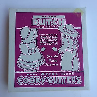 Vintage Amish Dutch Girl & Boy Cooky Cookie Cutters