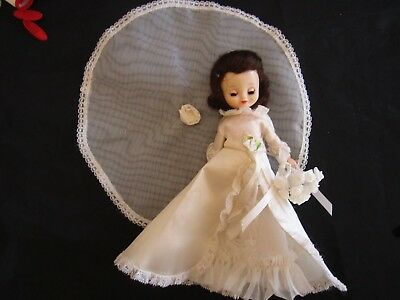 Vintage 8 Betsy McCall B-60/B-119 Bride Dress + Veil Shoes Tights Bouquet READ
