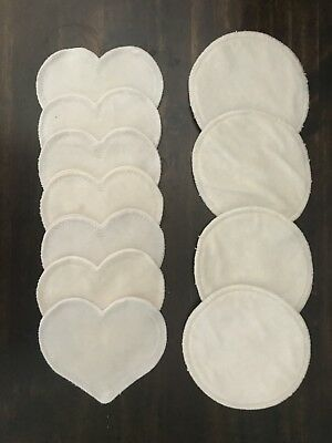Bamboobies Washable Reusable Nursing Pads Lot Of 7 Day and 4 Night
