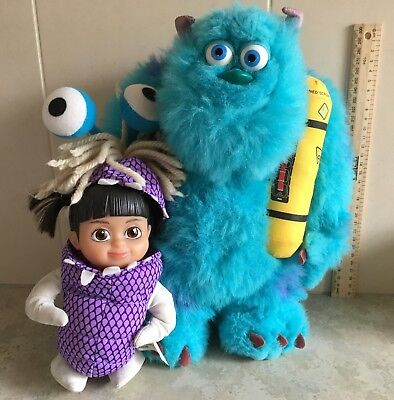 Vintage Disney Monsters Inc Sully talking and glowing with Boo doll. RARE.