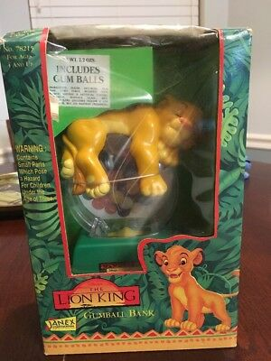 The Lion King Sleeping Simba Gumball Bank by Janex New In Box