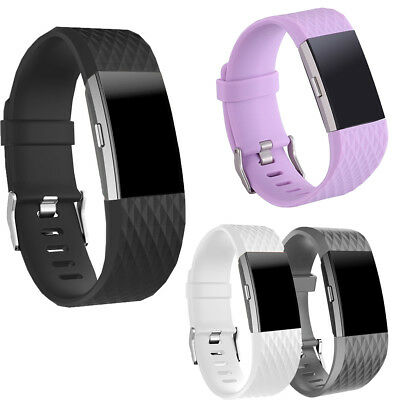 FOR Fitbit CHARGE 2 Replacement Silicone Rubber Bands Strap Wristband Bracelet K