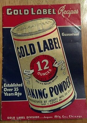 Vintage Gold Label Baking Powder Recipes Collectible Baking Book