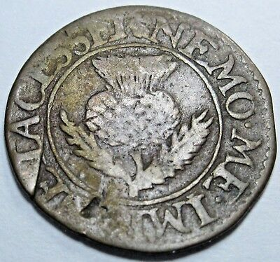 Scotland 1632-1639 2 Pence Antique Scottish Currency Turner Charles I Bodle Coin